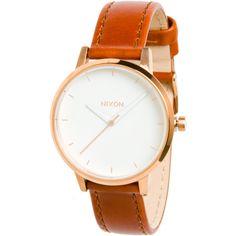 Nixon - Kensington Leather Watch - Women's - Rose Gold/White