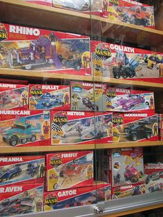 Some guy's pristine collection of M.A.S.K toys. why do i enjoy looking at the boxes so much?M.A.S.K. Crusaders! by Neutral Zone Toys and Games, via Flickr