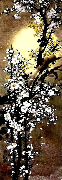 Oh Young Sung - Oh Young Sung (오영성) . Art Japonais, Korean Art, China Art, Zen Art, Traditional Paintings, Fantasy Landscape, Japan Art, Chinese Painting, Flower Art