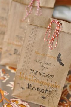 cute halloween favors double as invites