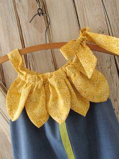 Sunny Flower Pillowcase Dress PDF Pattern Tutorial Easy Sew