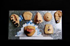 Exhibidores de látex para  piercings