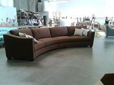 Curved Sectional Sofa Set - Rich Comfortable Upholstered Fabric - Contemporary Curved Sofa...Same couch different color....Great