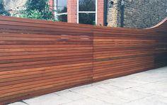 horizontal fence panels | Horizontal Fence Panels: Modern Garden Design Ideas - Quiet Corner