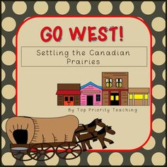 Go West! Settling The Canadian Prairies ties in perfectly with Alberta's Grade 4 and 5 curriculum.  This 81 page product is packed full of activities, foldables, handouts, and vocabulary cards.    ♦ Confederation Foldable ♦ Requirements of NWMP ♦ NWMP Foldable ♦ 3 Reader's Theatre with Questions ♦ Pros & Cons of Moving West T-Chart ♦ Homesteader T-Chart ♦ Wagon Load Weight Activity ♦ Friendly Letter Activity ♦ Negative Effects of Settlement on 1st Nations Peoples Foldable ♦ Pos...