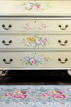 Vintage Home - Stunning Handpainted Bureau and Drawers.