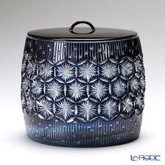 Nemoto Glass - Edo kiriko faceted water jar.