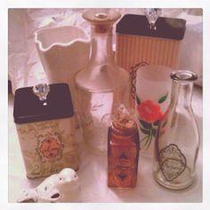 Center piece for wedding-old vintage bottles