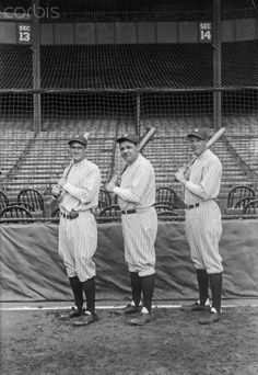 Earle Combs with Babe Ruth and Bob Meusel 1927