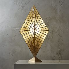 Solace capiz table lamp by CB2. Check out more interior design ideas here http://homemages.com