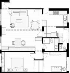 Diseño de departamento de 110 metros cuadrados, ambientes modernos y flexibles