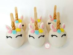 Unicorn Party: more than 30 beautiful ideas - Inspire your Party ® Unicorn Birthday Parties, Unicorn Party, Cowgirl Party, Candy Apples, Cake Pops, Fondant, Cupcake Cakes, Balloons, Projects To Try