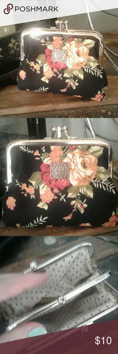 Beautiful Floral Coin purse Cute floral coin purse. Made of beautiful floral desigm material. Never used. Brand new condition. Has 2 seperate openings. Bags Clutches & Wristlets
