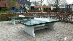 Pingpongtafel Afgerond Groen bij Huttenheugte in Dalen