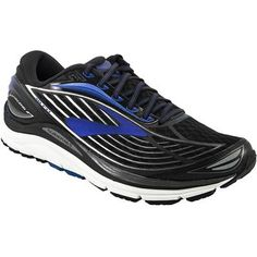 Brooks Transcend 4 Running Shoes - Mens Black Electric Brooks Blue Silver