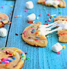 Whip up these Marshmallow Funfetti Cookies for dessert.