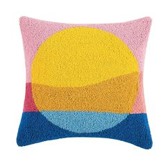 Needle Cushion, Rainbow Bedding, Bedroom Games, Shops, Cotton Velvet, Modern Colors, Cushion Pads, Punch Needle, Decorative Pillows