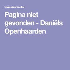 Pagina niet gevonden - Daniëls Openhaarden