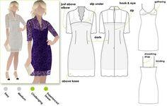 Alisha Dress.  Fabulous V-neck dress with slip (pattern included)   Style Arc