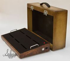 Pedalboard. Love the finish and the suitcase enclosure.