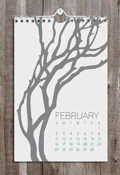 2014 Calendar / Botanical / Wall