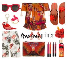"""Hot Tropics"" by bysc ❤ liked on Polyvore featuring IPANEMA, Kate Spade, Reiss, Valentino, Yves Saint Laurent and Urban Decay"