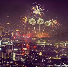 The Fireworks From Shard Building A View To Central London England New Year 2017-2018