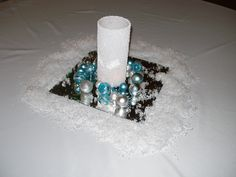 Our winter wedding centerpiece!