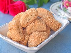 Biscotti, Greek Sweets, Bread Art, Almond Cookies, Greek Recipes, Cookie Recipes, Muffin, Food And Drink, Desserts