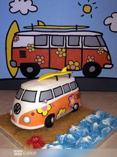 Your Cake. Tarta furgoneta Volkswagen Volkswagen, Baking, Hippy, Cake, Surf, Desserts, Food, Ideas, Fondant Cakes