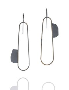 Points earrings, oxidized sterling silver, Amy Tavern. Gallery Lulo.