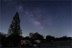 The Summer Milky Way in Scutum, Sagittarius and Scorpius rises early in the morning over the observing field at the DelMarVa Star party  ~ Astrophotography by Jerry Lodriguss
