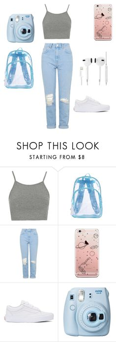 """""""Untitled #29"""" by stromcekovaaneta ❤ liked on Polyvore featuring Topshop, Vans and Fujifilm"""
