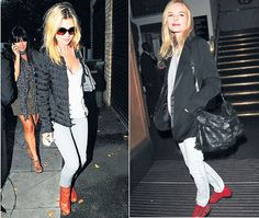 Kate Moss: Fringe Jacket..sooo cute! love the red shoes!