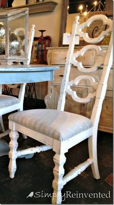 Quatrefoil Dining Chair   I Want To Find Tall Backed Chairs Like These For  At