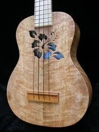 What if a soundhole like on this uke was cut into the top of a chambered electric but a thin and colored acoustic soundboard was suspended below. What would it sound like?