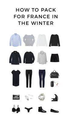 How to Pack for France in the Winter | modernfrenchblog.com