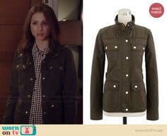 Spencer's green jacket on Pretty Little Liars. Outfit Details: http://wornontv.net/35573/ #PLL