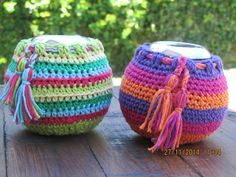 Mates De Calabaza Con Funda Tejida En Crochet Desde $30! - $ 50,00 en MercadoLibre