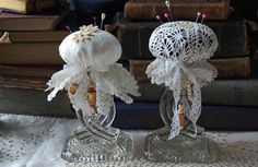 Pincushion - made with doily.