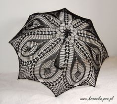 BLACK TULIP parasol,  victorian lace umbrella, goth lady or young sexy girl, photo session accesory, steampunk, gothic, Made to ORDER. $89.99, via Etsy.