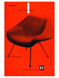 grain edit · Ad for Jupp Ernst Chair by Helmut Lortz Graphic Design Typography, Modern Graphic Design, Graphic Design Inspiration, Schmidt, Mid Century Modern Design, Ad Design, Design Ideas, Fabric Sofa, Modern Chairs