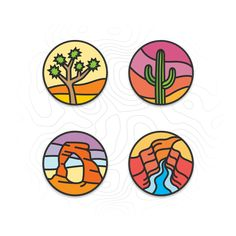 Staples Of The Southwest patch/sticker designs : Design Vinyl Record Art, Vinyl Art, Cd Art, Small Canvas Art, Aesthetic Painting, Skateboard Art, Aesthetic Stickers, Cute Stickers, Art Inspo