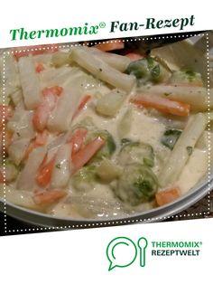 Rahm Gemüse aus Kohlrabi-Möhren-Rosenkohl mit Kartoffel von Drea1808. Ein Thermomix ® Rezept aus der Kategorie Hauptgerichte mit Gemüse auf www.rezeptwelt.de, der Thermomix ® Community.