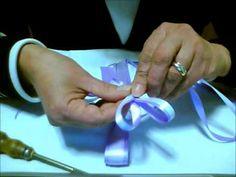 Segnaposti matrimonio con doppio fiocco in raso Tutorial - YouTube
