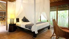 Maya Loka Villas  (  Bali, Indonesia  )  At 2,690 square feet, the two-bedroom villas are spacious and incredibly private.