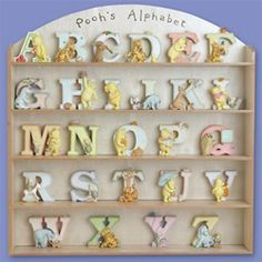 Winnie the Pooh Personalized Letters - While Quantities Last! Winnie The Pooh Figurines, Alphabet, Baby Boy, Letters, Kids, Ebay, Google Search, Future, Classic