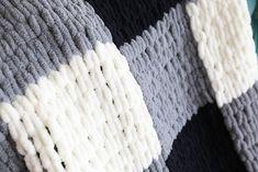 Easy Giant Knit Blanket Tutorial Loopy Yarn A Crafty