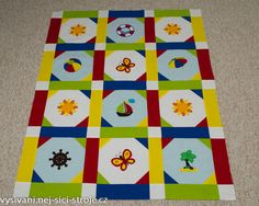 patchworková deka - dětská deka
