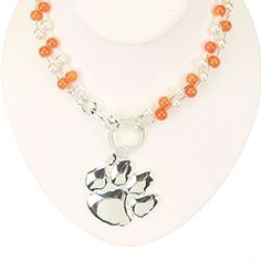 NCAA Clemson Tigers Beaded Logo Necklace J and D Jewelry and More http://www.amazon.com/dp/B00I4MRTIW/ref=cm_sw_r_pi_dp_HDayvb19GGPGP